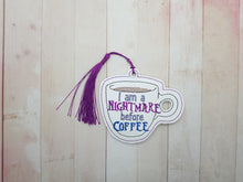 Load image into Gallery viewer, Nightmare before Coffee Bookmark/Ornament DIGITAL DOWNLOAD
