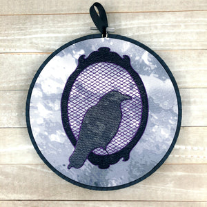 Raven Cameo Embroidery Design 5 sizes included DIGITAL DOWNLOAD