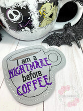 Load image into Gallery viewer, Nightmare before Coffee Coaster DIGITAL DOWNLOAD