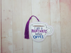 Nightmare before Coffee Bookmark/Ornament DIGITAL DOWNLOAD