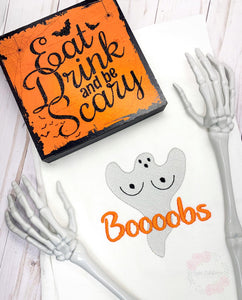 Boooobs Embroidery Design 5 sizes included DIGITAL DOWNLOAD