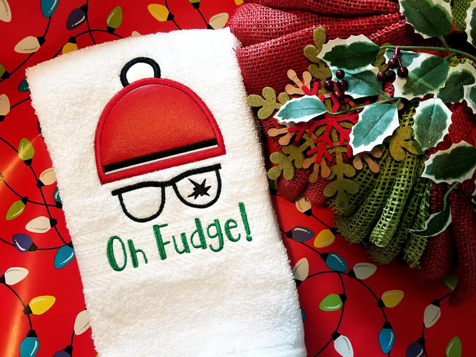 Oh Fudge Applique Embroidery Design 5 sizes included DIGITAL DOWNLOAD