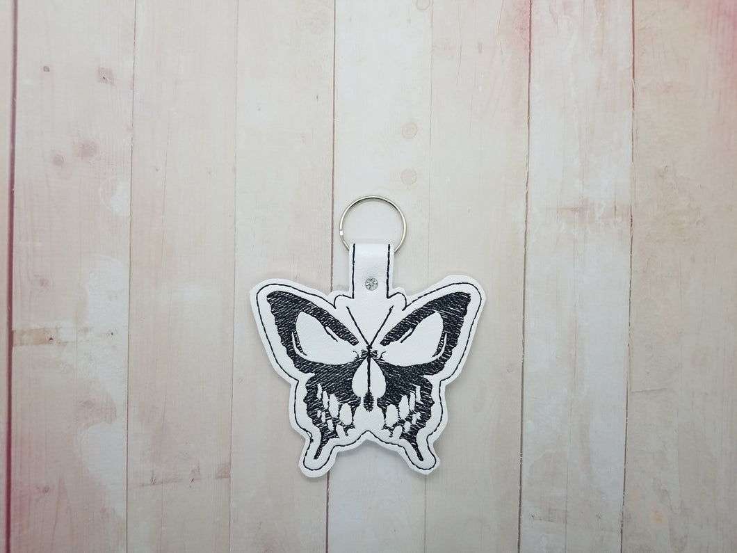 Sketchy Butterfly skull full snap tab Single and multi file included DIGITAL DOWNLOAD