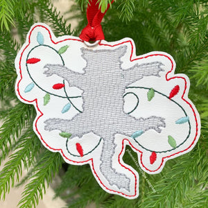 Christmas Cat ornament 4x4 DIGITAL DOWNLOAD