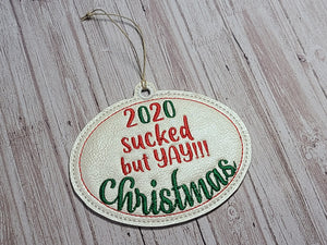 Yay Christmas! Ornament 4x4 DIGITAL DOWNLOAD