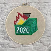 2020 Dumpster Fire Applique embroidery design 5 sizes included DIGITAL DOWNLOAD
