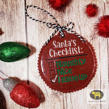 Load image into Gallery viewer, Santa's Checklist Ornament 4x4 DIGITAL DOWNLOAD