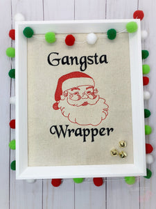 Gangsta Wrapper embroidery design 4 sizes included DIGITAL DOWNLOAD