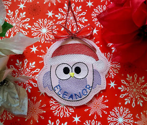 Christmas Owl Ornament 4x4 DIGITAL DOWNLOAD