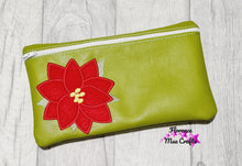 Load image into Gallery viewer, Poinsettia Applique ITH Bag 5 sizes available DIGITAL DOWNLOAD