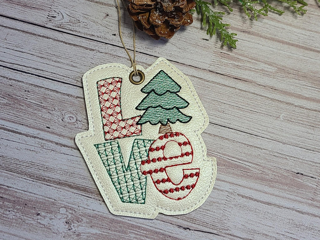 LOVE Christmas Ornament 4x4 DIGITAL DOWNLOAD