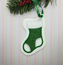 Load image into Gallery viewer, Stocking Applique Ornament 4x4 DIGITAL DOWNLOAD