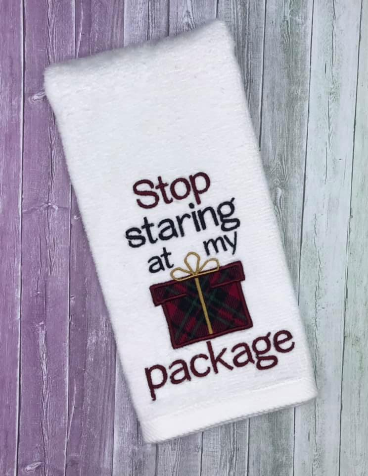 Stop Staring at my package 5 sizes included DIGITAL DOWNLOAD