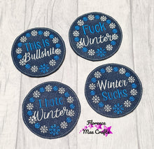 Load image into Gallery viewer, Winter Coaster set of 4 designs DIGITAL DOWNLOAD