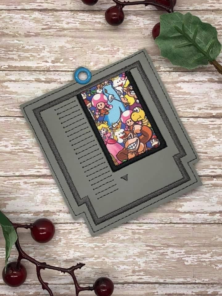 Game Cartridge Applique Bookmark DIGITAL DOWNLOAD