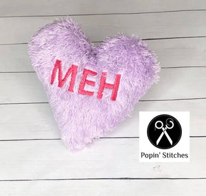 Valentine Heart Stuffies Set of 3 designs (4x4 & 5x7 sizes included) DIGITAL DOWNLOAD