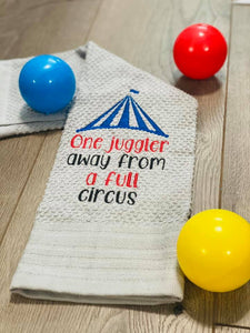 One Juggler away from a full circus embroidery design (5 sizes included) DIGITAL DOWNLOAD