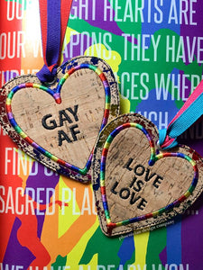 Pride Heart Applique bookmark set of 2 designs DIGITAL DOWNLOAD