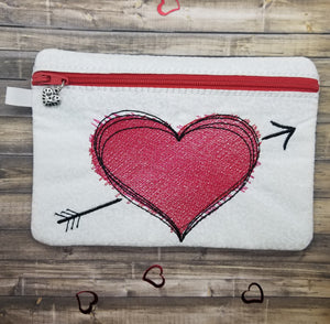 Sketchy heart ITH bag 5 sizes available DIGITAL DOWNLOAD
