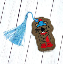 Load image into Gallery viewer, Groundhog Bookmark embroidery design DIGITAL DOWNLOAD