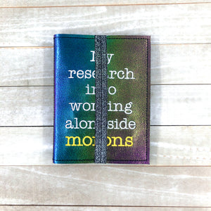 My Research into working with morons notebook cover (2 sizes available) DIGITAL DOWNLOAD