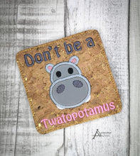 Load image into Gallery viewer, Cute Swears Applique Coaster set of 4 designs DIGITAL DOWNLOAD