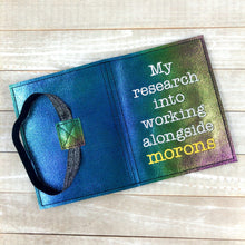 Load image into Gallery viewer, My Research into working with morons notebook cover (2 sizes available) DIGITAL DOWNLOAD