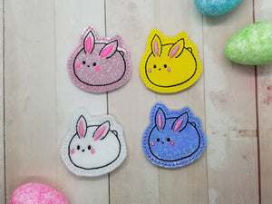 Squishy Bunny Feltie (Single & Multi file included) DIGITAL DOWNLOAD