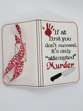 Load image into Gallery viewer, Attempted Murder notebook cover (2 sizes available) DIGITAL DOWNLOAD