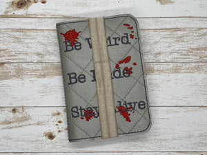 Be weird notebook cover (2 sizes available) DIGITAL DOWNLOAD