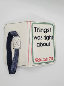 Things I was right about notebook cover (2 sizes available) DIGITAL DOWNLOAD