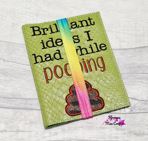 Brilliant Ideas I had while pooping applique notebook cover (2 sizes available) DIGITAL DOWNLOAD