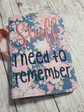 Load image into Gallery viewer, Stuff I need to remember notebook cover (2 sizes available) DIGITAL DOWNLOAD