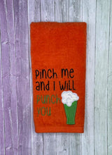 Load image into Gallery viewer, Pinch me and I will punch you applique design (5 sizes included) DIGITAL DOWNLOAD
