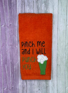 Pinch me and I will punch you applique design (5 sizes included) DIGITAL DOWNLOAD