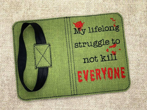 My life long struggle to not kill everyone notebook cover (2 sizes available) DIGITAL DOWNLOAD