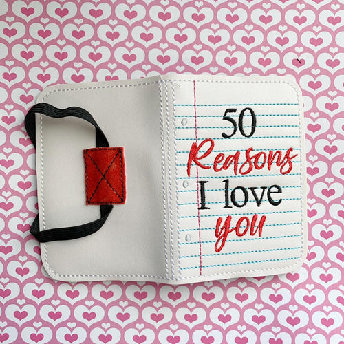 50 Reasons I love you notebook cover (2 sizes included) DIGITAL DOWNLOAD