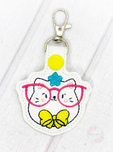 Glasses Kitty Snap tab (single and multi file included) DIGITAL DOWNLOAD