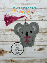 Load image into Gallery viewer, Koala heart bookmark/ornament DIGITAL DOWNLOAD