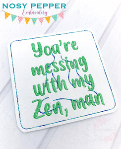 Zen AF Coaster set (set of 2 coaster design) DIGITAL DOWNLOAD