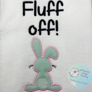 Fluff off Applique embroidery design (4 sizes included) DIGITAL DOWNLOAD