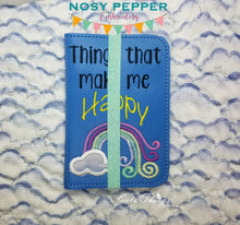 Load image into Gallery viewer, Things that make me happy applique notebook cover (2 sizes available) DIGITAL DOWNLOAD