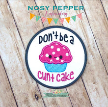 Load image into Gallery viewer, C*nt cake applique Patch design 4x4 DIGITAL DOWNLOAD
