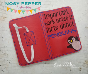 Facts about penguins notebook cover (2 sizes available) DIGITAL DOWNLOAD