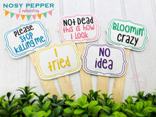 Load image into Gallery viewer, Plant Marker Set D set of 5 designs DIGITAL DOWNLOAD