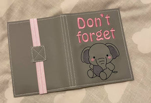 Don't forget elephant notebook cover (2 sizes available) DIGITAL DOWNLOAD