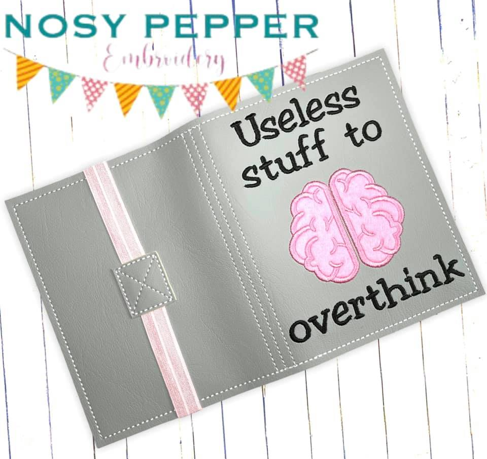 Useless Stuff to Overthink notebook cover design (2 sizes available) DIGITAL DOWNLOAD