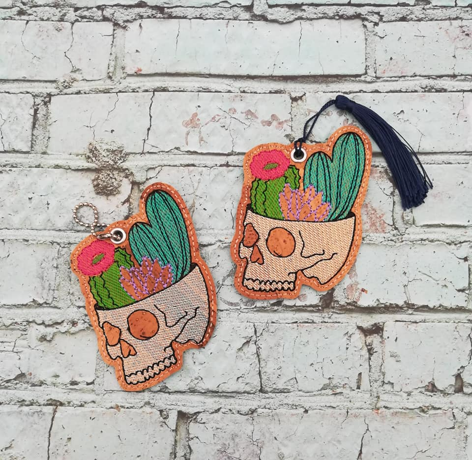 4 x 4 Digital Download Cactus Skull Bookmark