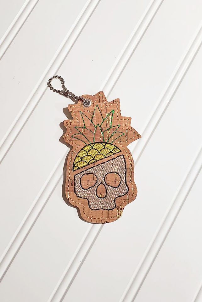 Pineapple skull 4 x 4 Bookmark