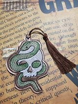 Snake Skull 4x4 Bookmark/Ornament DIGITAL DOWNLOAD